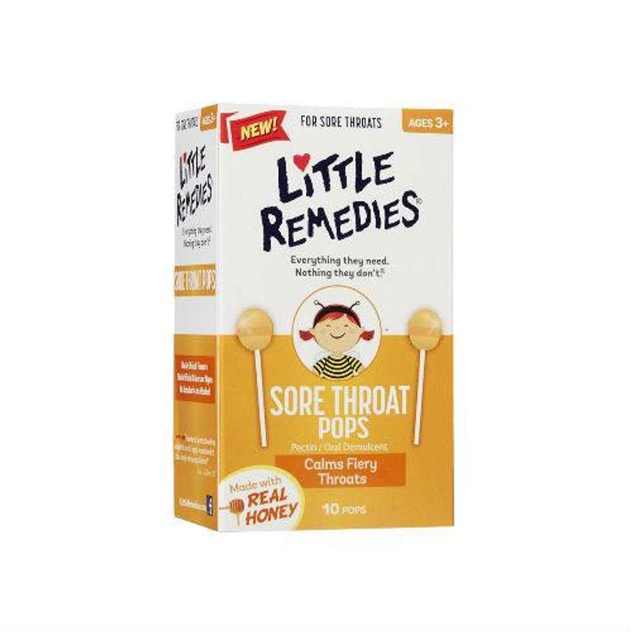 Kẹo Ngậm Cho Trẻ Little Remedies Sore Throat Pops