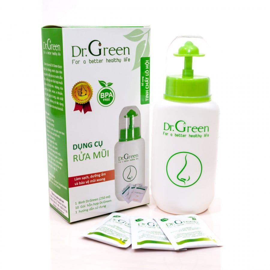Bình Rửa Mũi Dr.Green Dành Cho Bé Tặng Kèm 10 Gói Muối