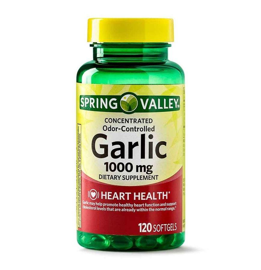 Tinh Dầu Tỏi Không Mùi Spring Valley Garlic 1000mg
