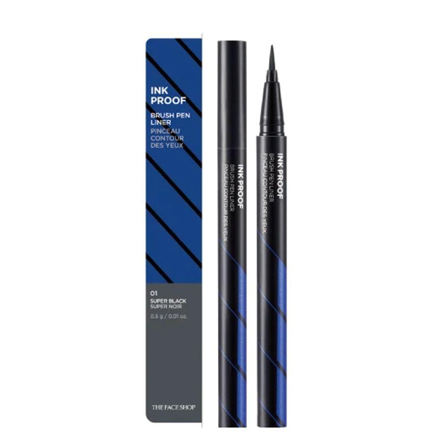 Bút Kẻ Mắt Lâu Trôi The Face Shop Ink Proof Brush Pen Liner