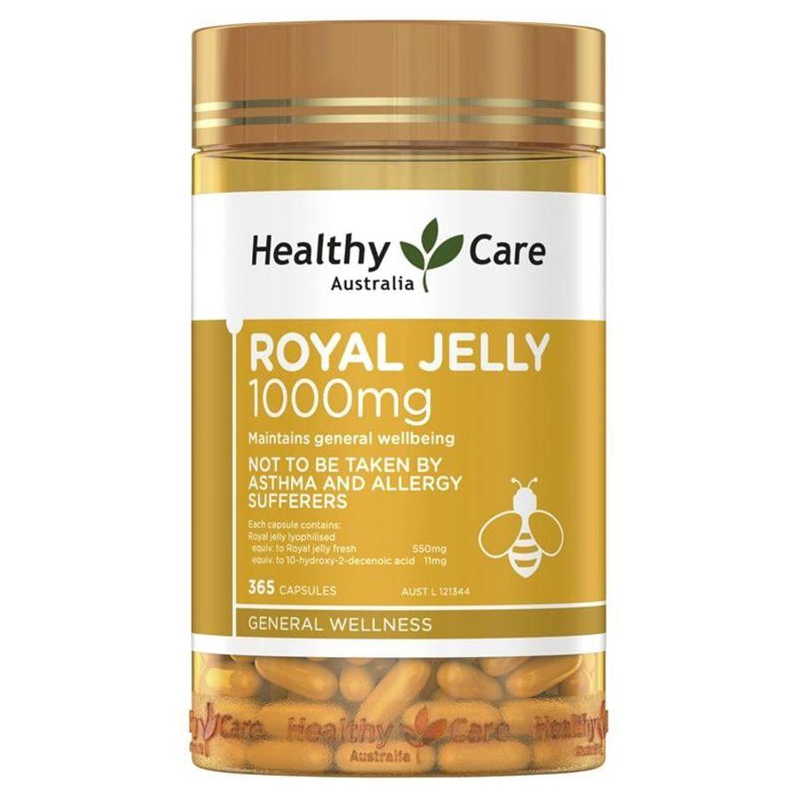 Sữa Ong Chúa Royal Jelly 1000mg Healthy Care Của Úc