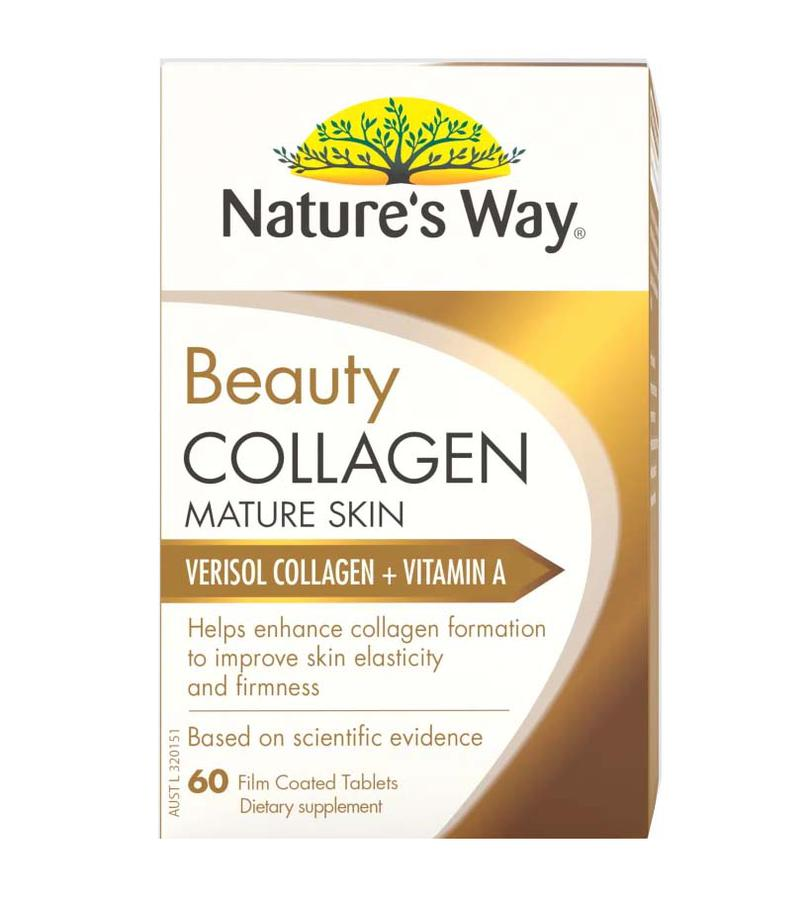 Viên Uống Nature's Way Beauty Collagen Mature Skin Của Úc