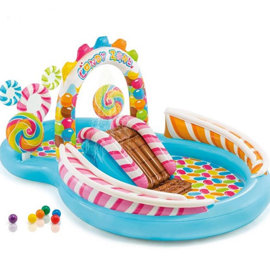 Bể Bơi Phao Cầu Trượt Kẹo Ngọt Intex 57149 Cho Bé