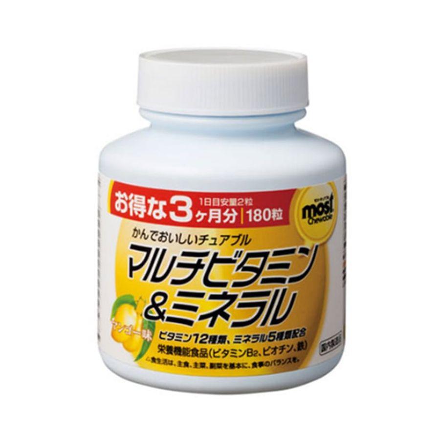 Viên Nhai Bổ Sung Vitamin, Khoáng Chất Orihiro Most Chewable