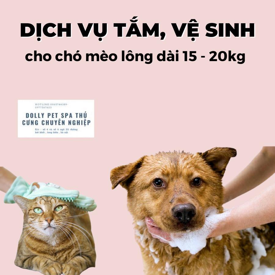 Voucher Tắm Vệ Sinh Trọn Gói Cho Chó Mèo Lông Dài 15kg Đến 20kg