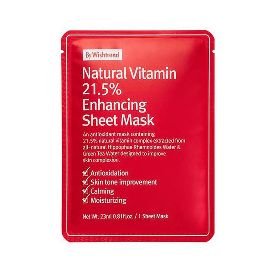 Combo 10 Mặt Nạ Dưỡng Trắng Da By Wishtrend Natural Vitamin