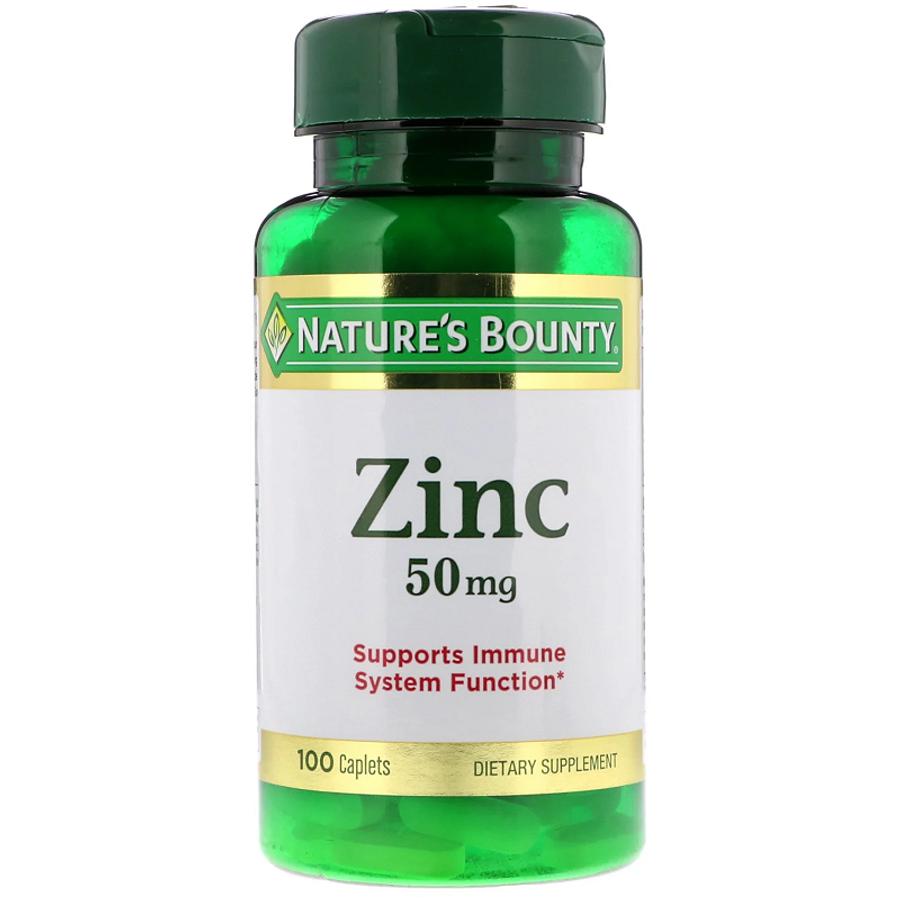 Viên Kẽm Nature's Bounty Zinc 50mg 100 Viên Của Mỹ