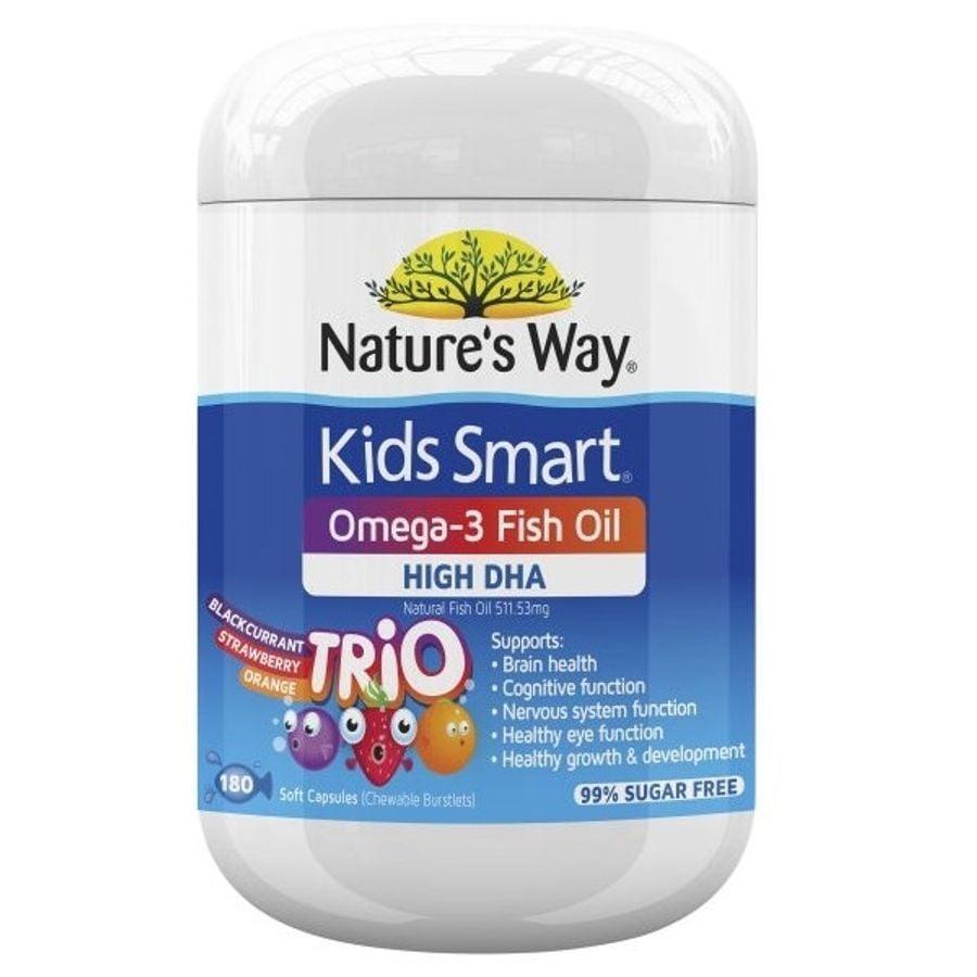 Kẹo Dẻo Bổ Sung DHA Nature's Way Kids Smart Omega 3 High DHA