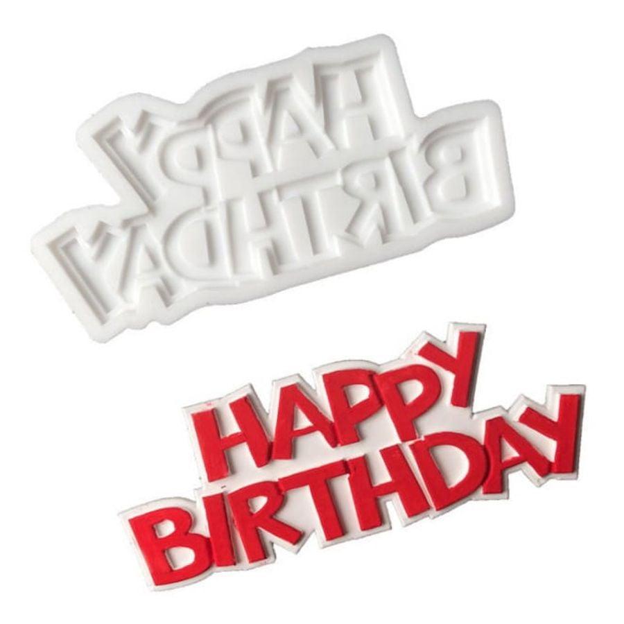 Khuôn Silicon Happy Birthday