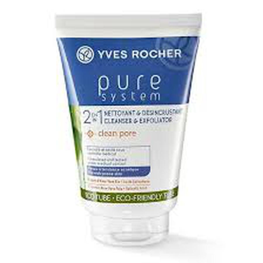Sữa Rửa Mặt Yves Rocher Pure System Daily Exfoliating Cleanser 125ml
