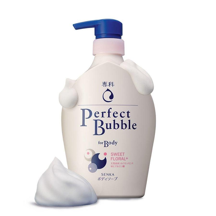Sữa Tắm Dưỡng Ẩm Senka Perfect Bubble Hương Hoa Hồng Đinh Hương 500ml