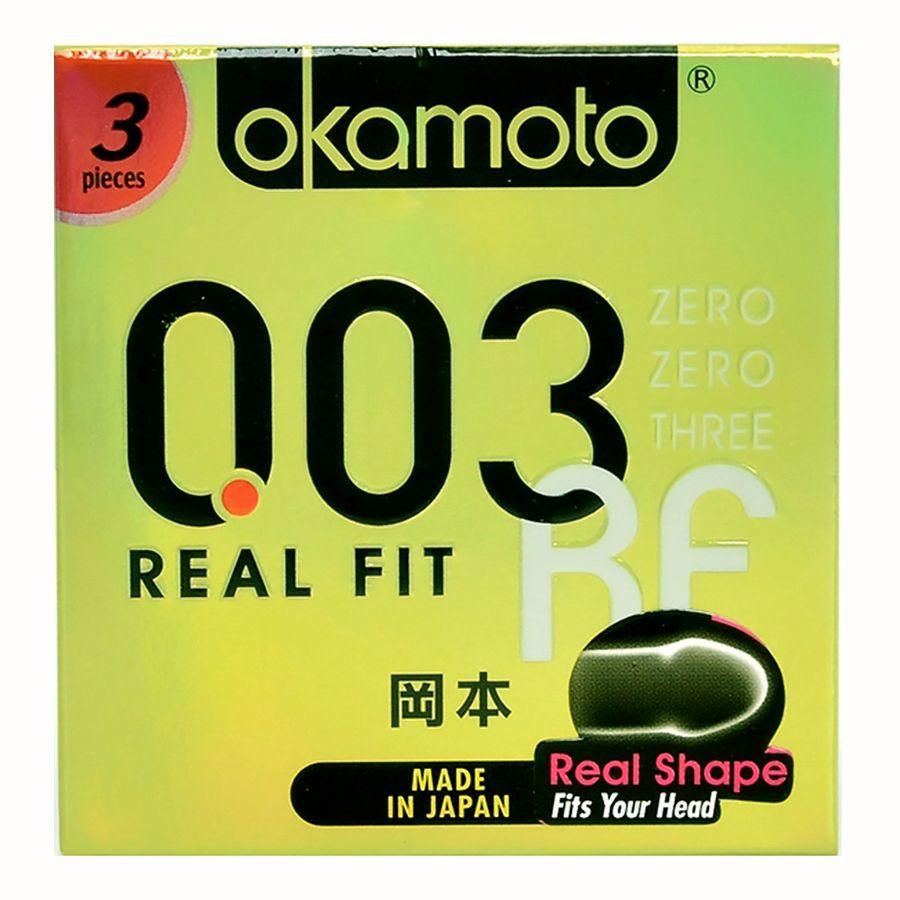 Combo BCS Okamoto 003 Real Fit Khả Năng Co Rút Giúp Ôm Sát Hộp 3 Cái
