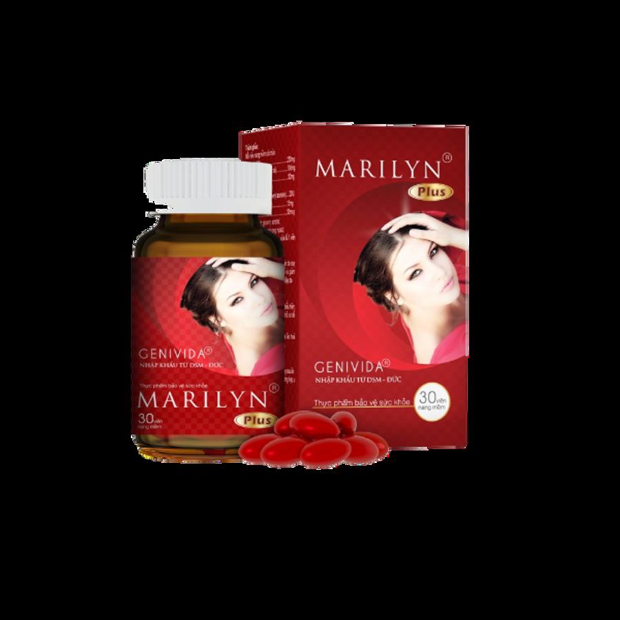 Viên Uống Hỗ Trợ Tăng Cường Nội Tiết Tố Nữ Marilyn Plus 30 Viên