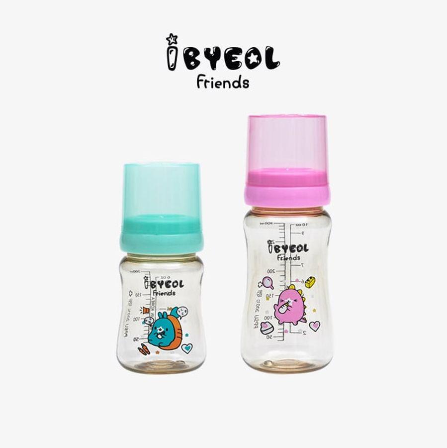 Bình Sữa Cho Bé Ibyeol Friends PPSU 200ml 300ml Chính Hãng Hàn Quốc