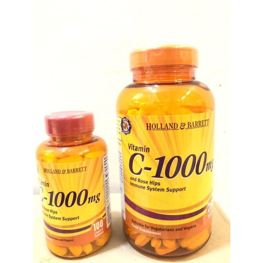 Vitamin C 100mg Holland Barret Lọ 100 Viên Chính Hãng