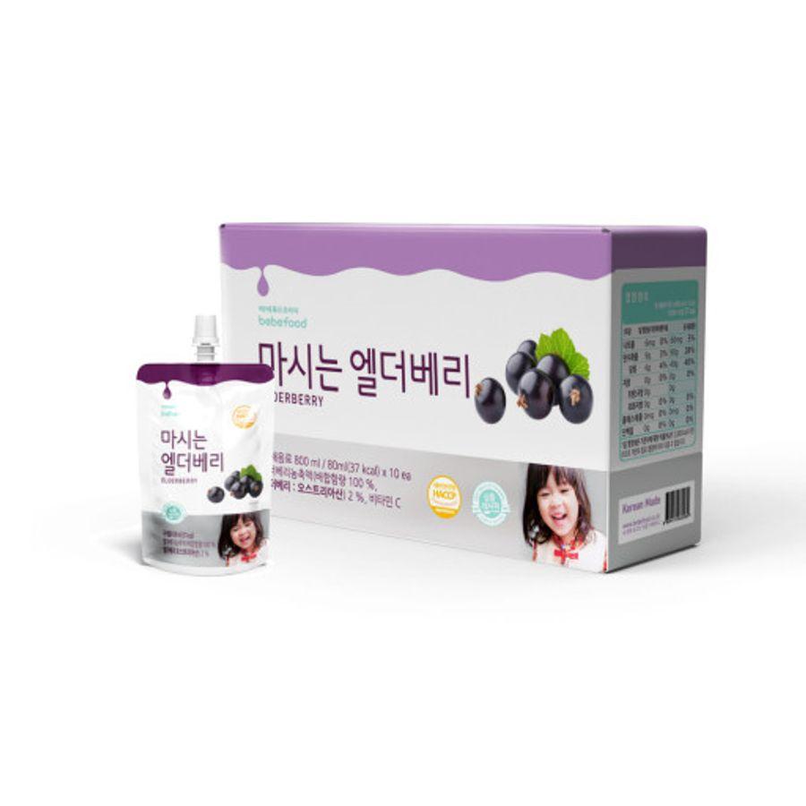 Nước Ép Tăng Đề Kháng Cho Bé Từ Quả Elderberry Bebefood Hàn Quốc