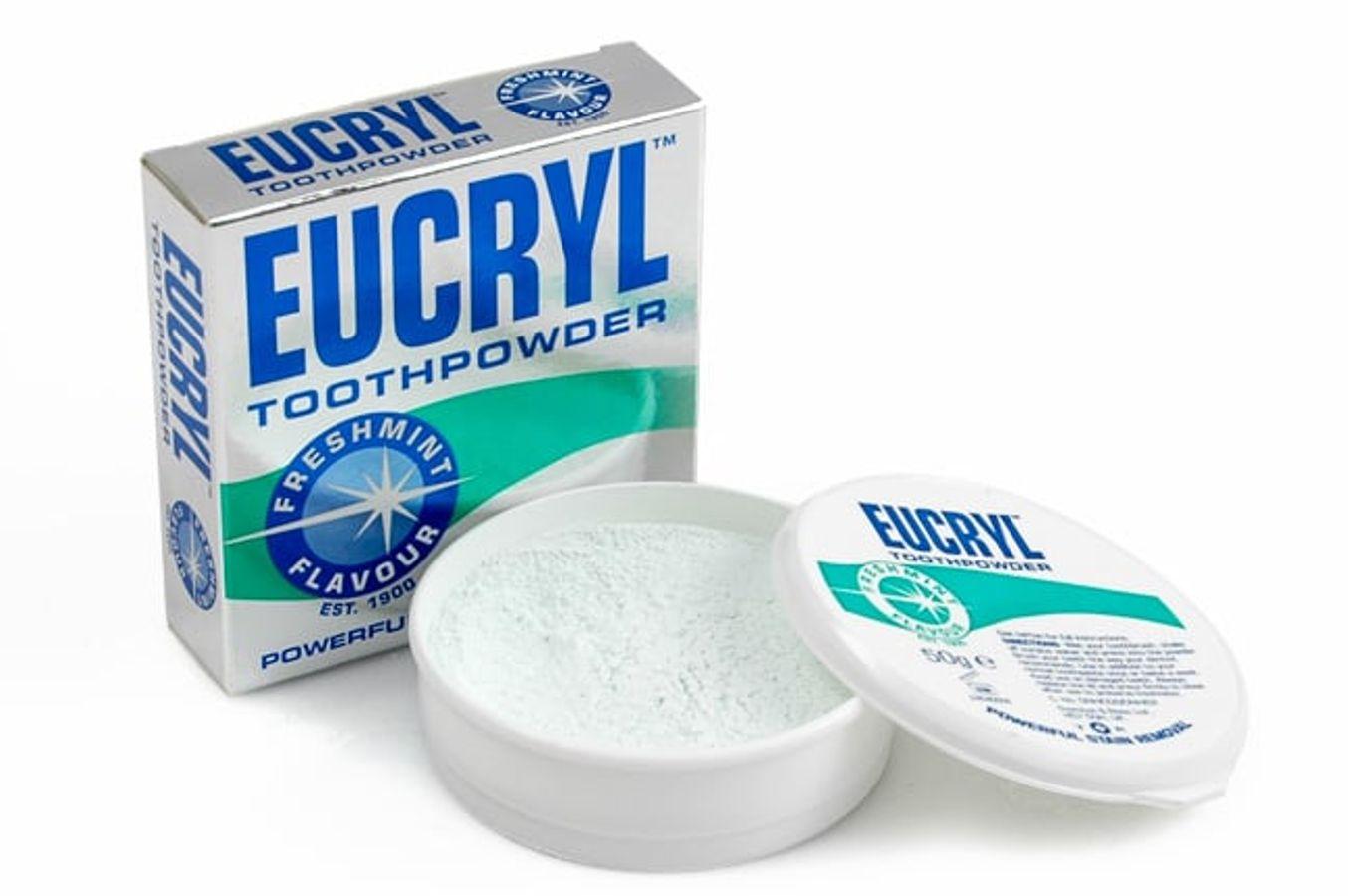 Bột Eucryl Tooth Powder Của Anh Hỗ Trợ Trắng Răng