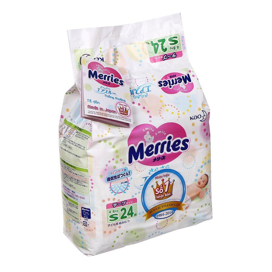 Tã Dán Merries Size S Cho Bé 4 - 8kg