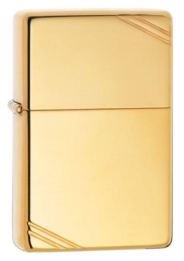 Bật Lửa Zippo 270 Vintage High Polish Brass Slashes