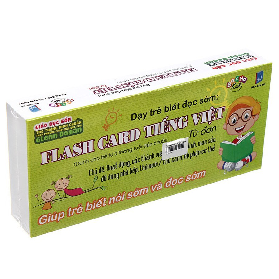 Thẻ Học Thông Minh Flash Card Tiếng Việt - Từ Đơn 1
