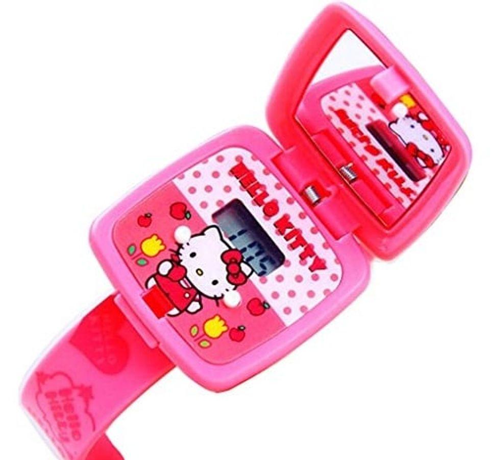 Đồng Hồ Trẻ Em Hello Kitty Có Gương Cho Bé Gái