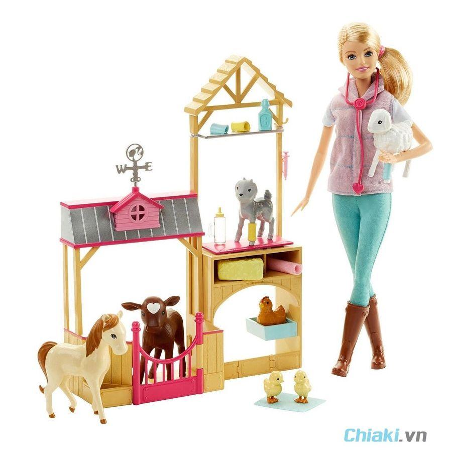 Bộ Đồ Chơi Bác Sĩ Thú Y Trang Trại Barbie Farm Vet DHB71