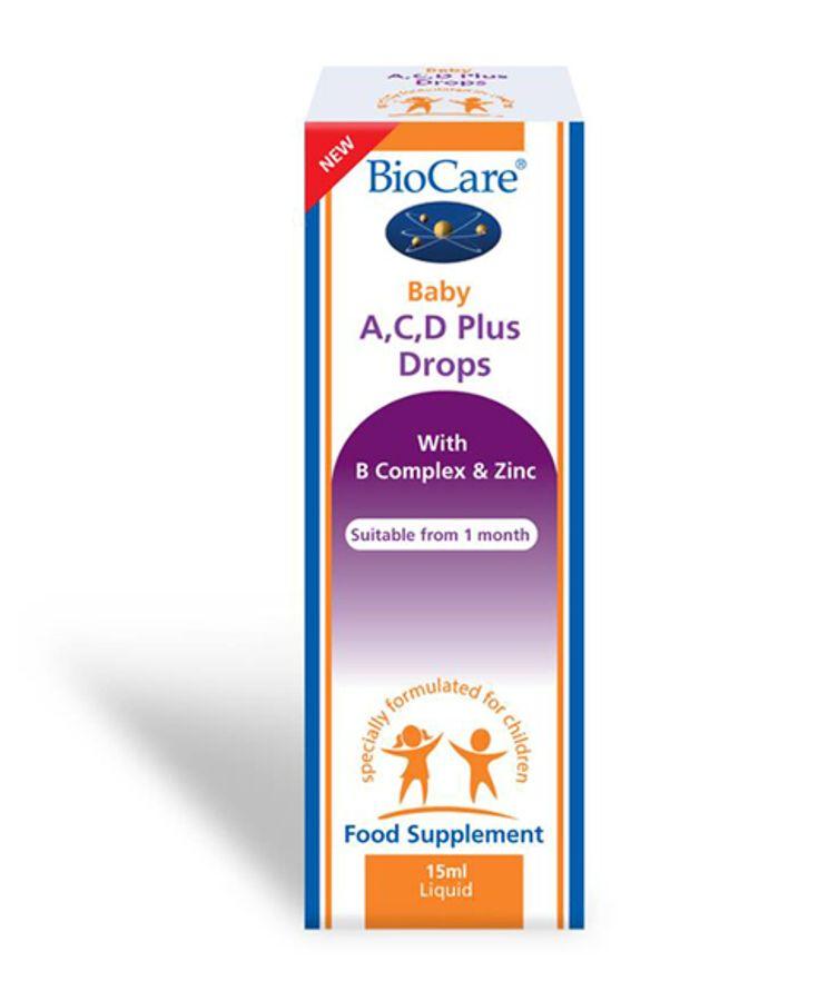 Biocare Baby Bổ Sung Vitamin A, C, D Dạng Giọt Cho Bé