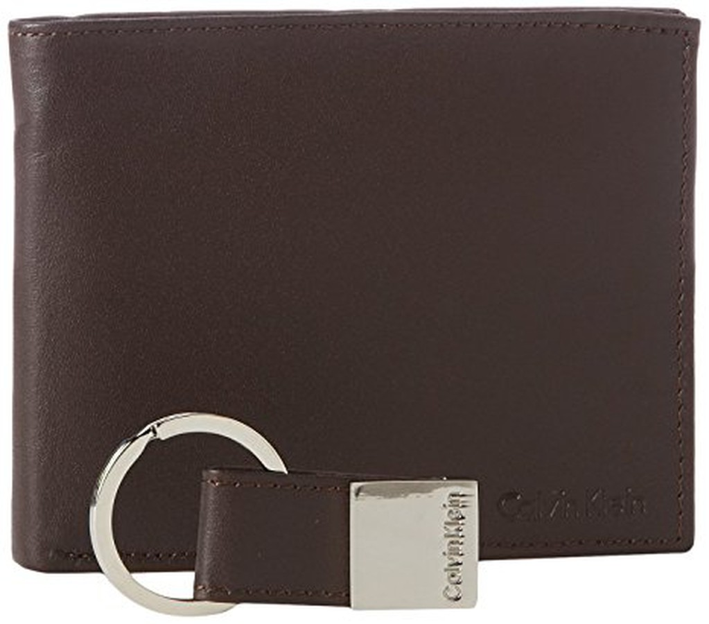 Ví Da Nam Calvin Klein Bifold Wallet Kèm Móc Khóa