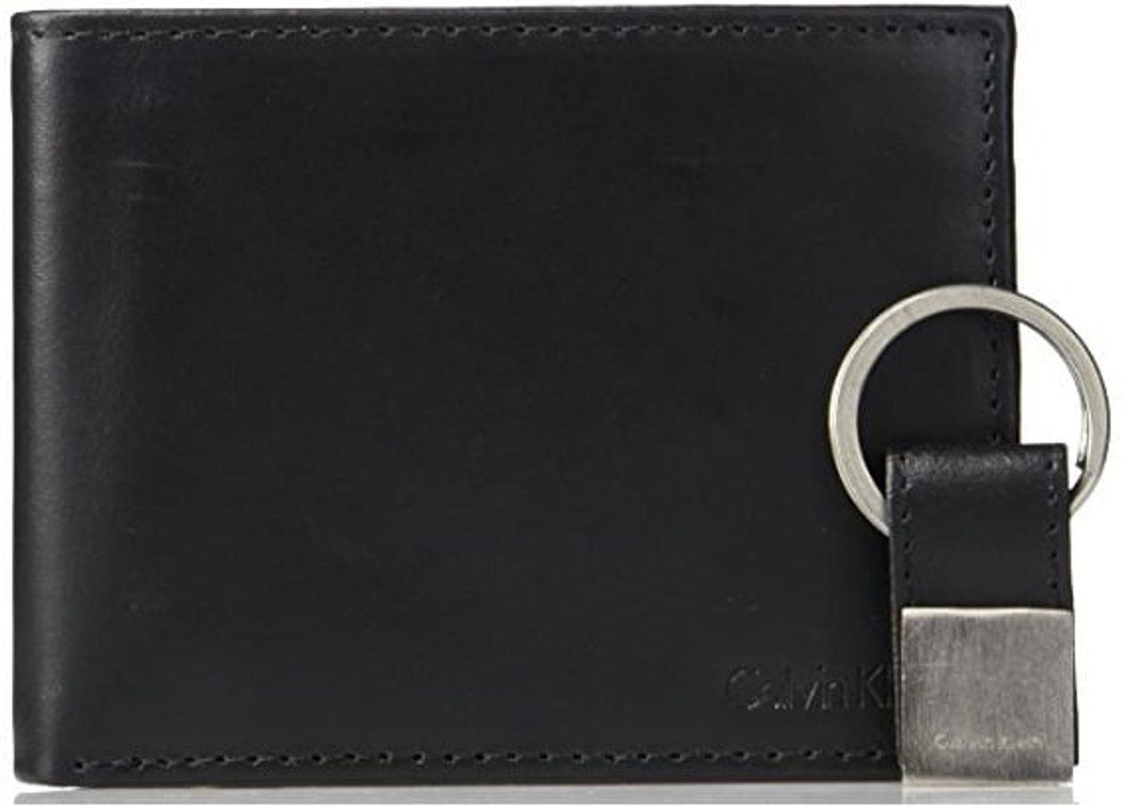 Ví Da Nam Calvin Klein Bifold Wallet Kèm Móc Khóa Màu Đen