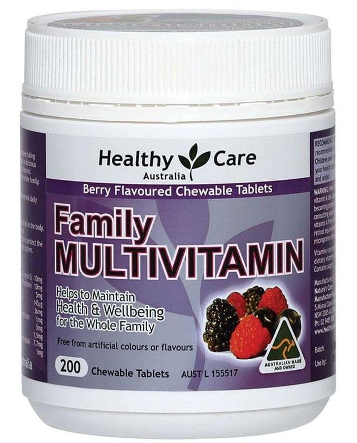 Vitamin Tổng Hợp Cho Gia Đình Healthy Care Family Multivitamin 200 Viên