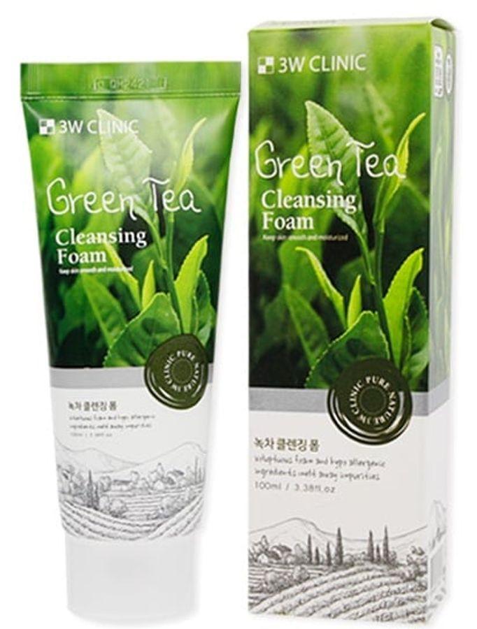 Sữa Rửa Mặt Trà Xanh 3W Clinic Green Tea Cleansing Foam