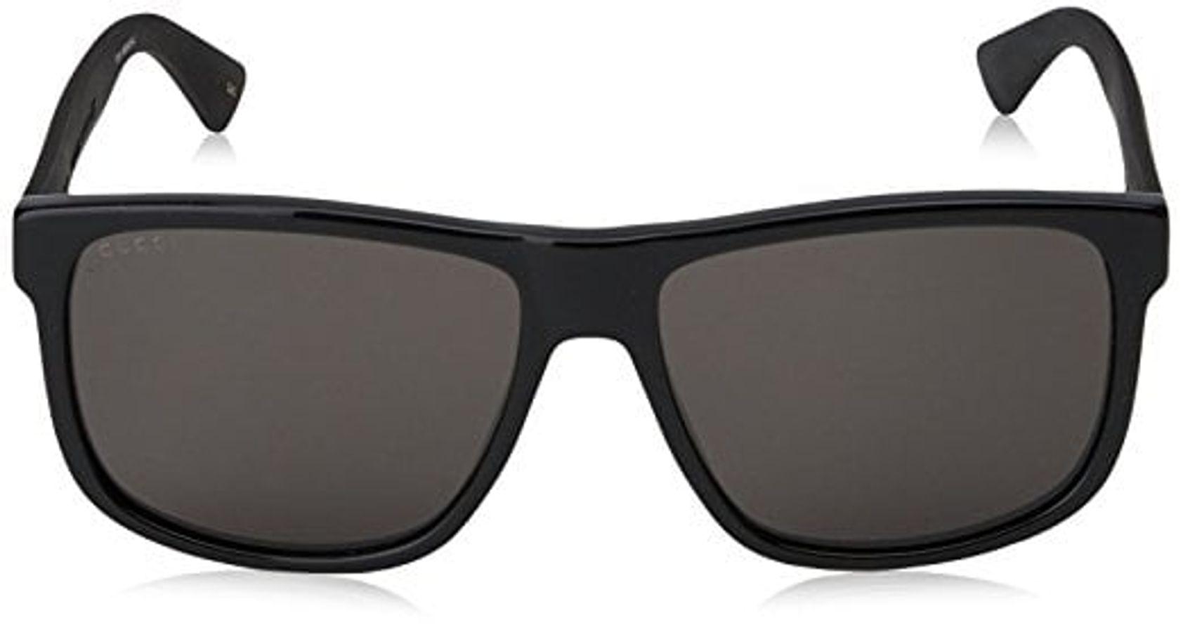 Mắt Kính Gucci 0010S- 001 Black / Grey 58mm