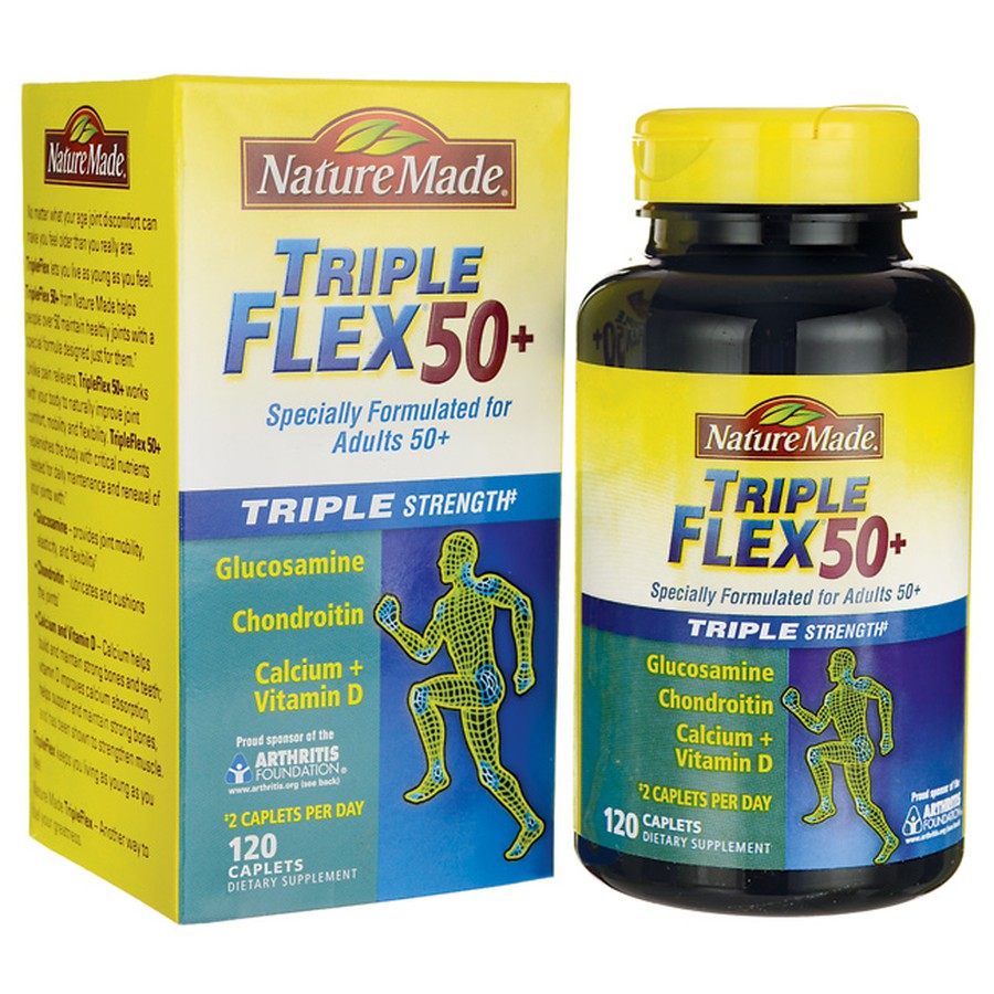 Triple Flex 50+ Nature Made - Tăng Cường Sức Khỏe Xương Khớp