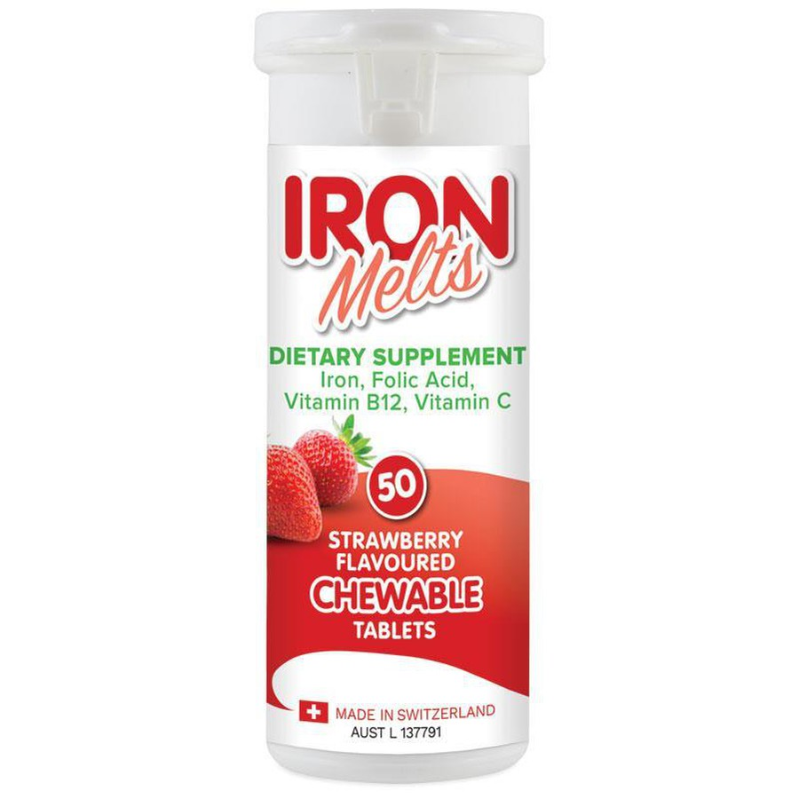 Iron Melts - Viên Bổ Sung Sắt, Acid Folic, Vitamin B12 Và Vitamin C
