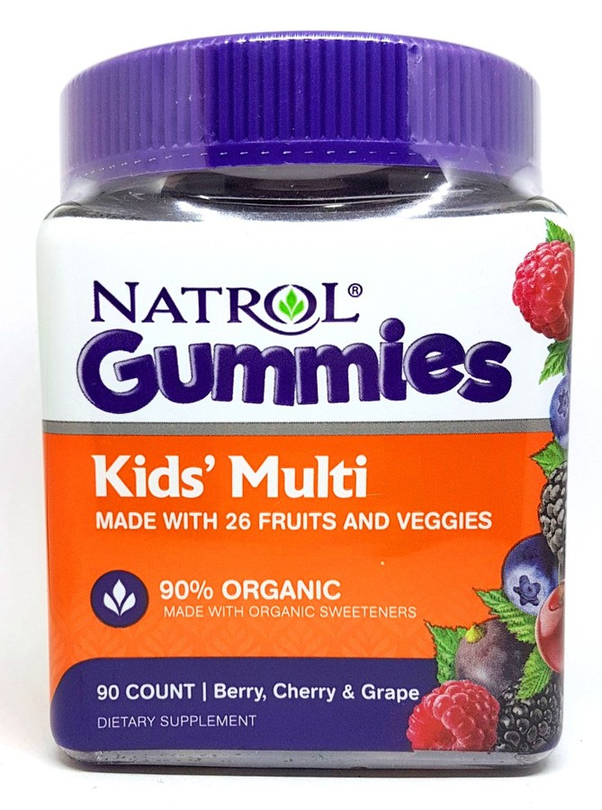 Kẹo Dẻo Natrol Gummies Kids' Multi Cho Bé