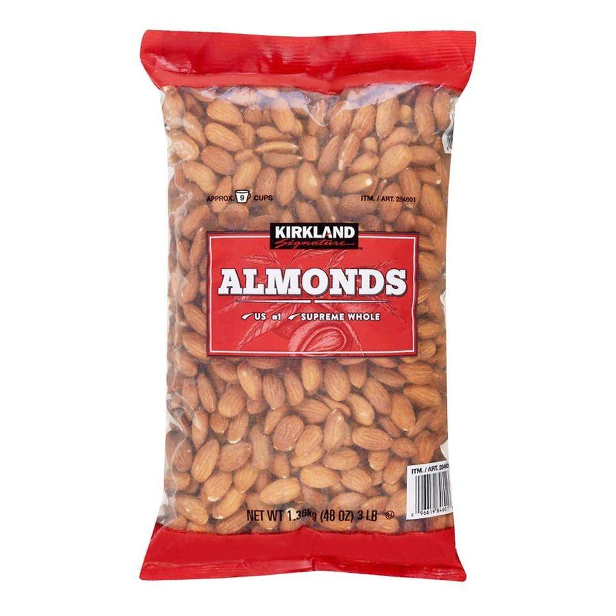 Hạnh Nhân Sấy Khô Kirkland Signature Almonds Không Muối 1.36kg