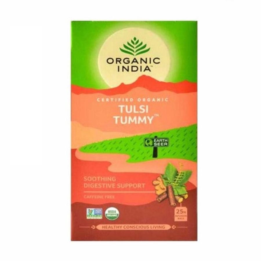 Trà Tulsi Tummy Organic India Hỗ Trợ Tiêu Hóa