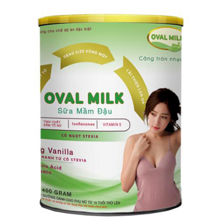 Sữa Mầm Đậu Nành Oval Milk Hỗ Trợ Cải Thiện Vòng 1