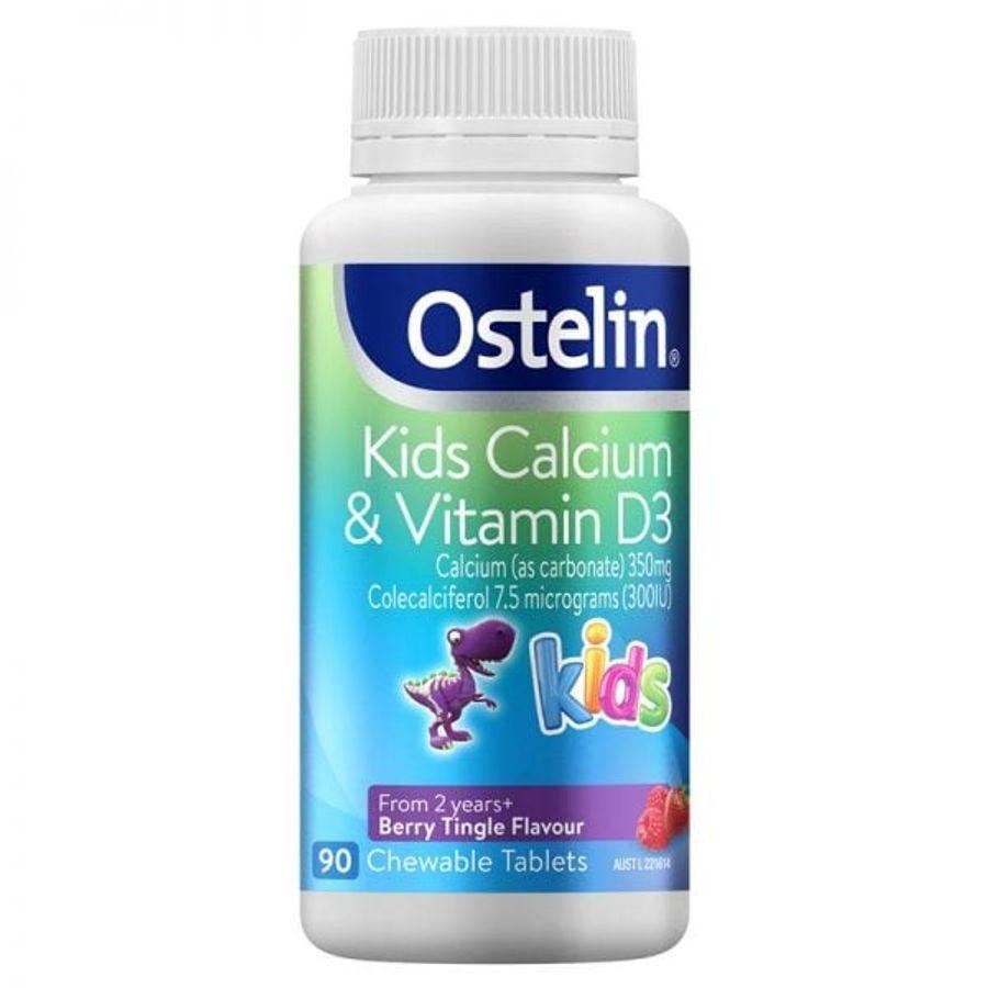 Vitamin D Và Calcium Ostelin Kids Cho Bé Từ 2-13 Tuổi Của Úc