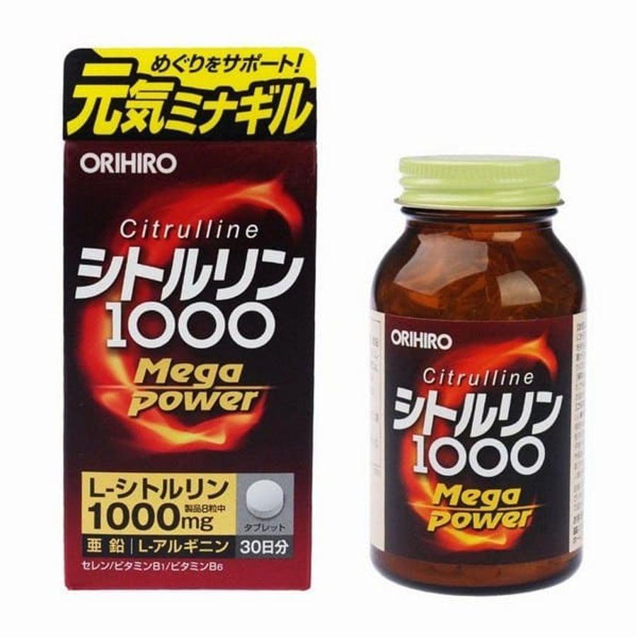 Viên Bổ Sung Năng Lượng Orihiro Citrulline Mega Power 1000mg