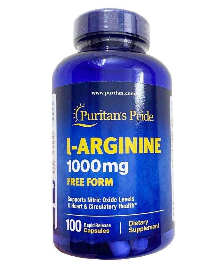 Viên Uống Hỗ Trợ Thải Độc Gan Puritan's Pride L-Arginine 1000mg
