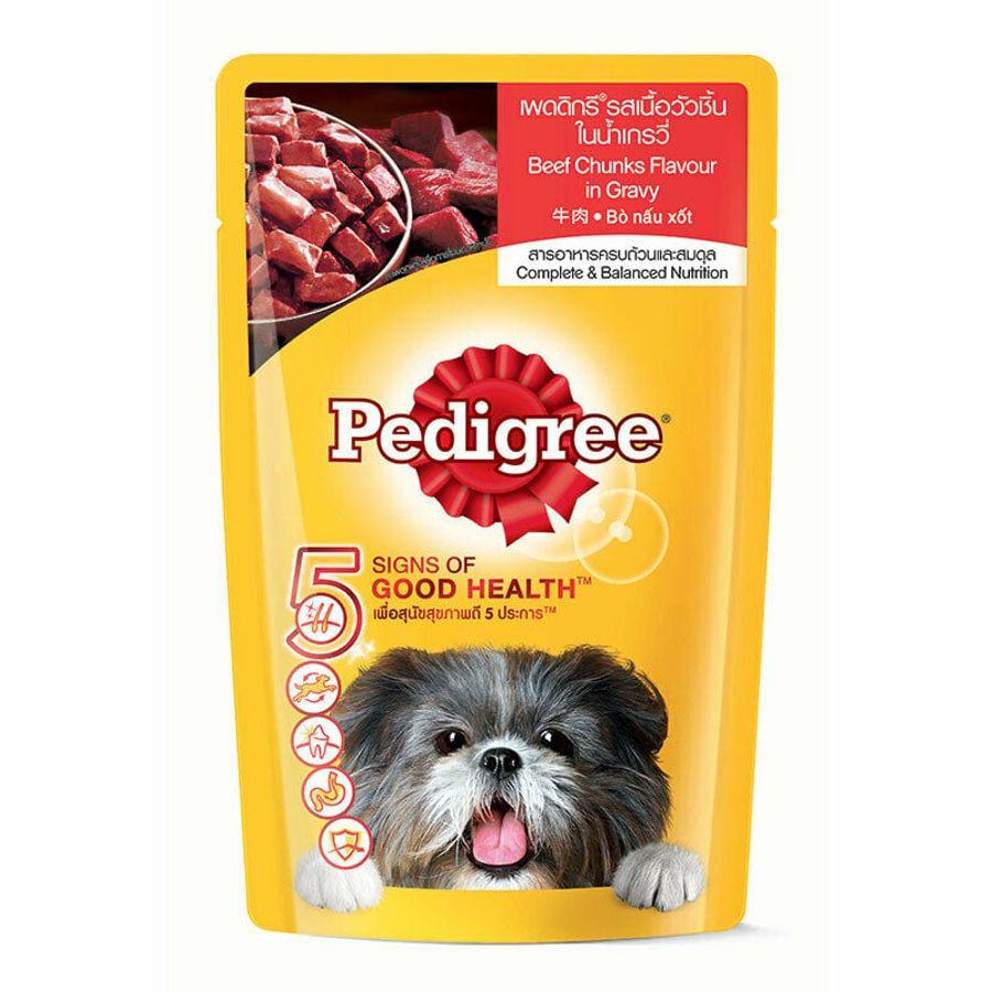 Thức Ăn Cho Chó Lớn Pedigree Dạng Pate Vị Bò 130g