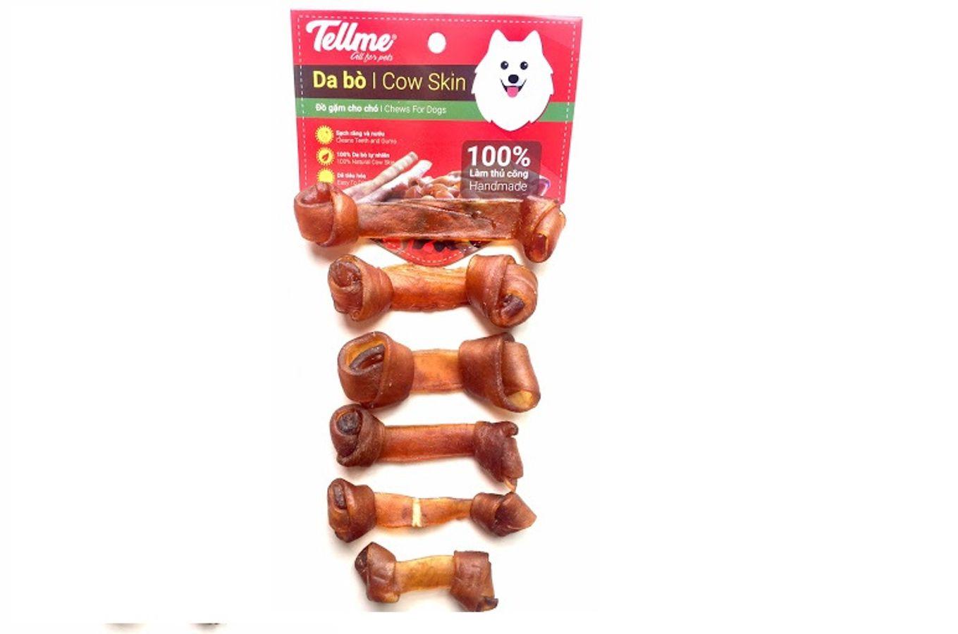 Đồ Gặm Da Bò Dạng Xương Nơ BS.50 Tellme Cho Chó