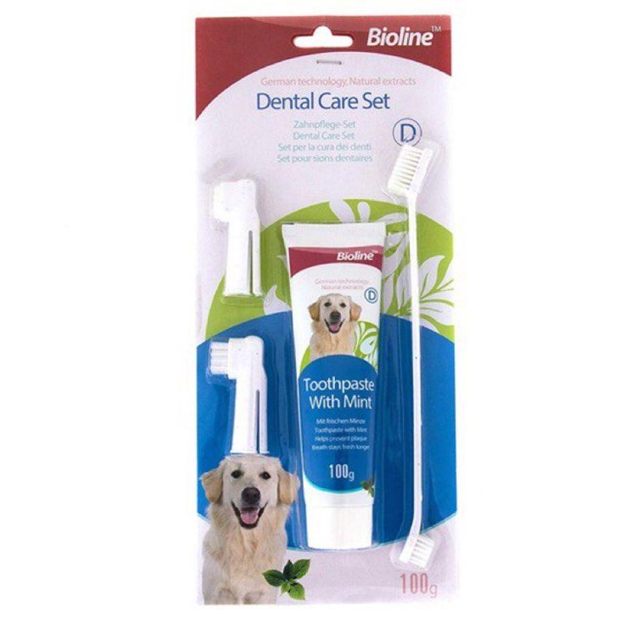 Kem Đánh Răng Bioline Dental Care Set Cho Chó