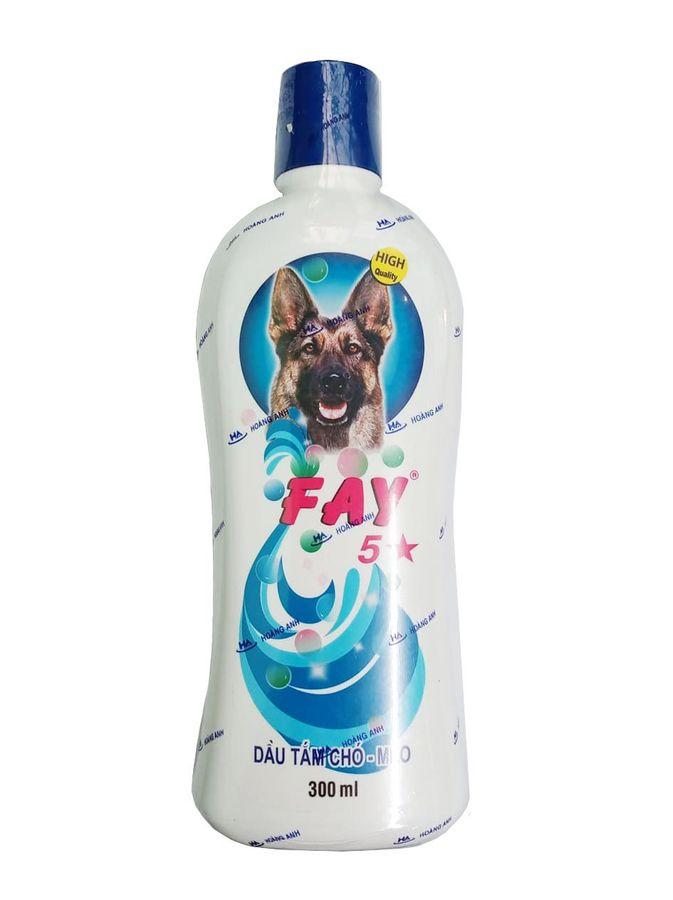 Dầu Tắm Cho Chó Mèo Fay 5 Sao Làm Sạch Ve, Rận, Khử Mùi Hôi