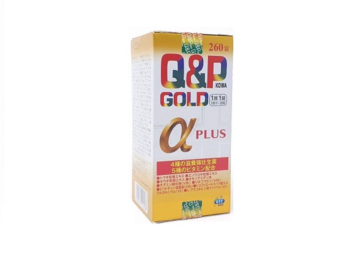Viên Uống Q&P Gold Alpha Plus Hỗ Trợ Tăng Đề Kháng 260 Viên