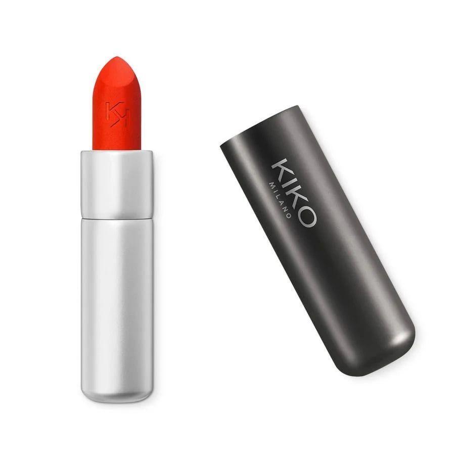 Son Kiko Powder Power Lipstick 09 Red Imperial Màu Cam