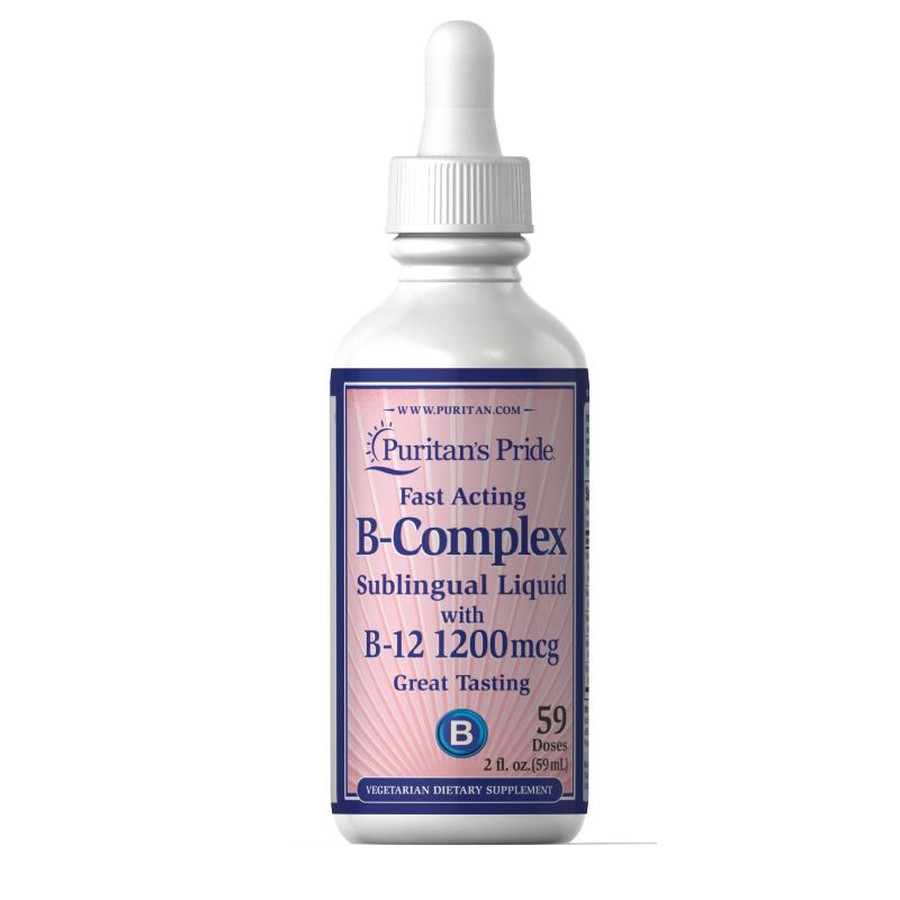 Vitamin B Complex Và Vitamin B-12 Puritan's Pride Dạng Siro 59ml