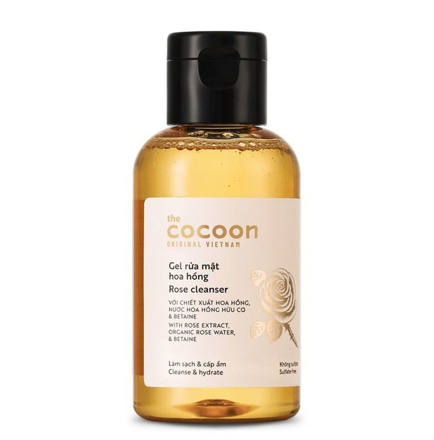 Gel Rửa Mặt Chiết Xuất Hoa Hồng Cocoon Rose Cleanser