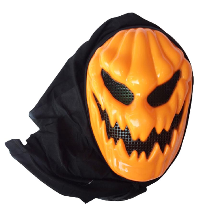 Mặt Nạ Bí Ngô Có Vải Trùm - Mặt Nạ Hóa Trang Halloween